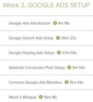 Week 2. Google Ads Setup - 6 Videos