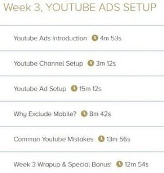 Week 3. YouTube Ads Setup - 6 Videos